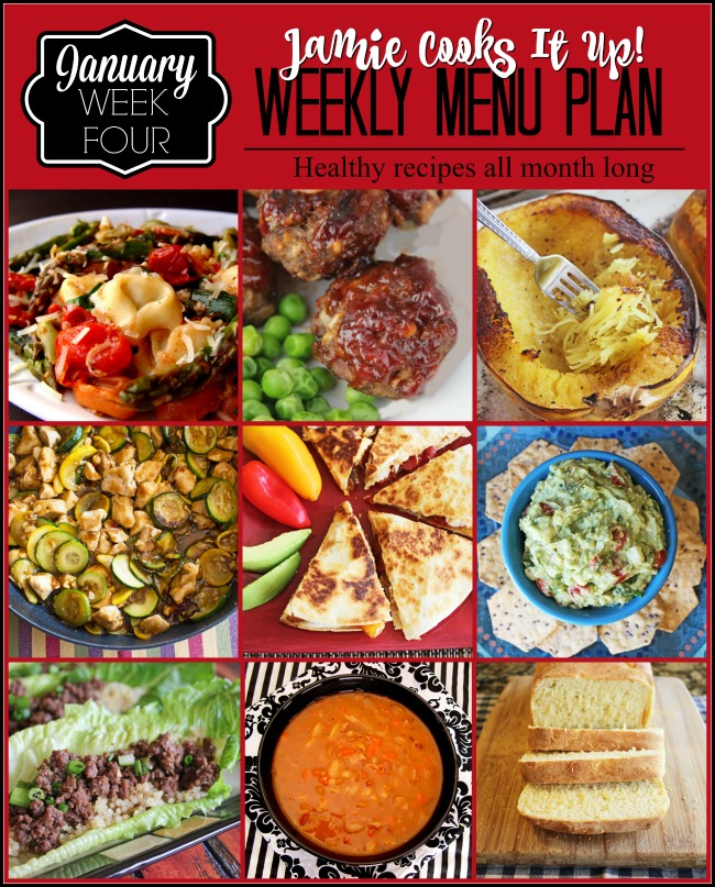 Menu Plan, January Week #4-2020