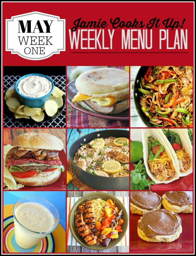 Menu Plan, May Week #1-2020
