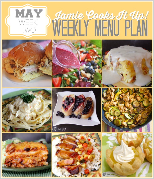 Menu Plan, May Week #2-2020
