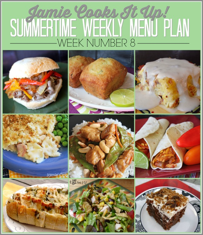 Summertime Menu Plan, Week #8-2020