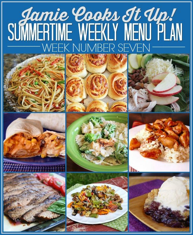 Summertime Menu Plan Week #7-2020