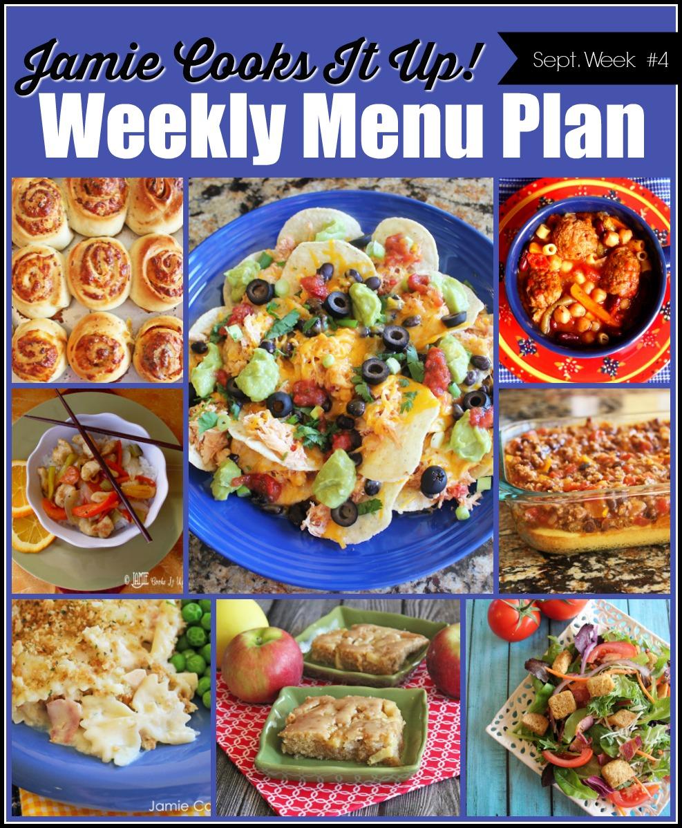 September Menu Plan, Week #4-2020