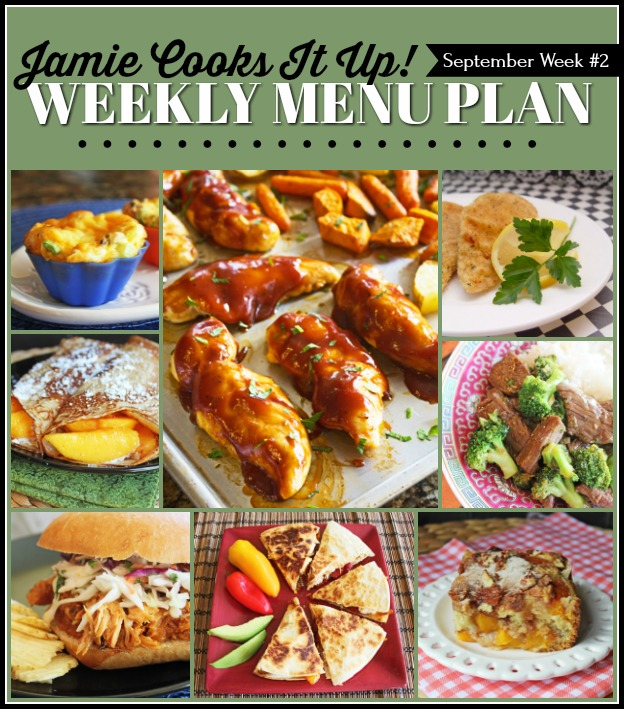 September Menu Plan, Week #2-2020