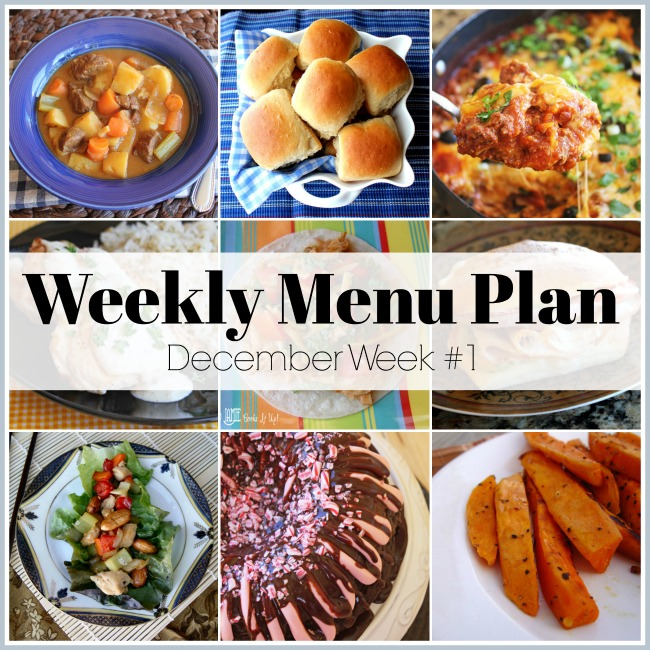 December Menu Plan, Week #1-2020