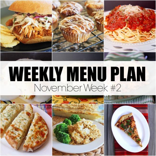 November Menu Plan, Week #2-2020