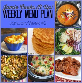 January Menu Plan, Week #2-2021