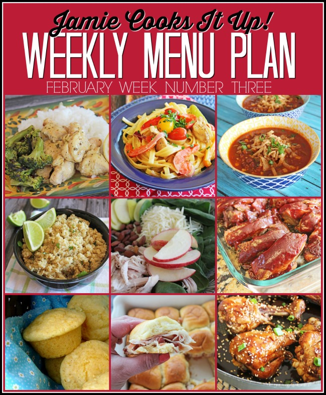 February Menu Plan, Week #3-2021