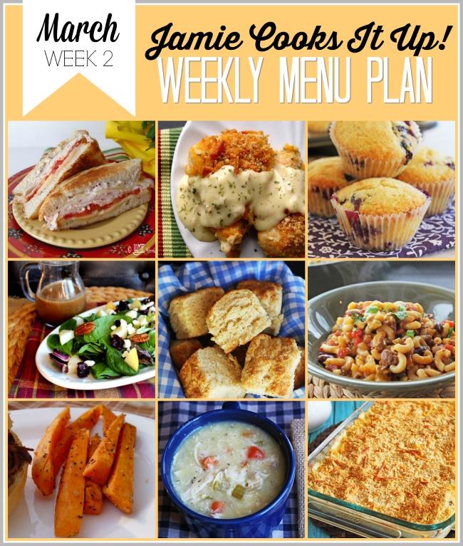 Menu Plan, March Week #2-2021