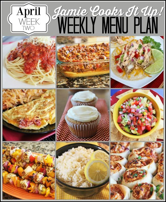 Menu Plan, April Week #1.5-2021