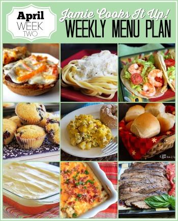 Menu Plan, April Week #2-2021