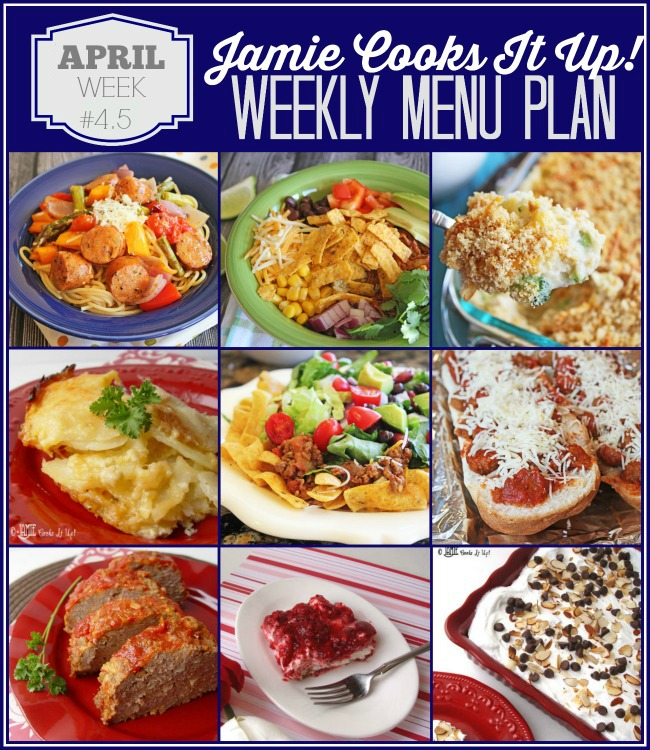 Menu Plan, April Week #4-2021